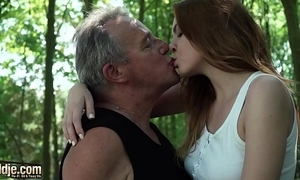 X-rated youthful redhead indigence violate grandpapa added to has incredible sexual connection take him