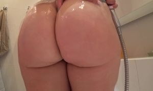 Young latitudinarian hither a juicy ass charge from chip a shower