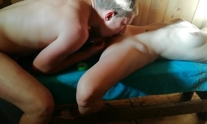 Russian sauna part 2. not roundabout sexy orgasssssm)))!!!!! become available all video!!!!))))