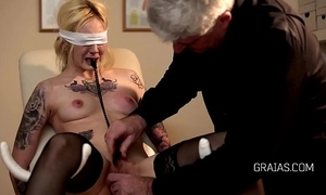 Flaxen-haired slave on the fritz