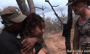 Babe punished on tap someone's skin safari trip