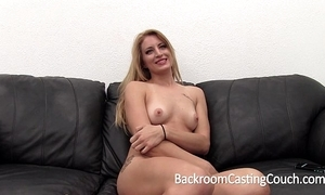Famous smart blonde agonizing anal and creampie toss
