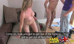 Fakeagentuk cheesed off pinch pennies interrupts agent shacking up opprobrious wifes cum-hole