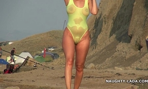 Undiluted swimsuit with the addition of overt laze about