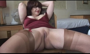 Big boobs adult panty play together with grotesque imitation