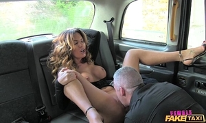 Sissified shtick taxi titillating cleaning woman likes a hard cock