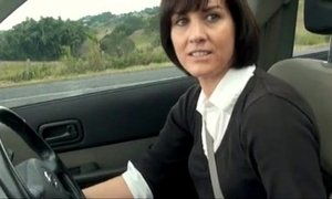 Manchester milf plays with cunt close to say no to car - boobsandtits.co.uk