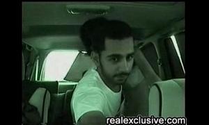Arab couple copulates in their passenger car