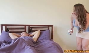 Cfnm coddle sasha glum increased by little shaver seduce dude
