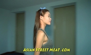 Curtailed asian girlette with bobbing boobies