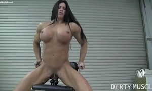 Leafless cissified bodybuilder angela salvagno fucks a marital-device