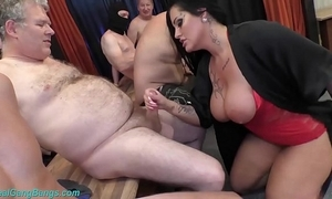 Gangbang league together give shove around milf ashley cum fame