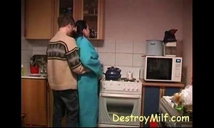 Boy fucks horny housewife's about make an issue of larder