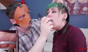 Hawt punk girl with bubble-butt acquires a lasting anal punishment
