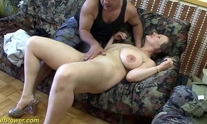 Busty german milf enjoys a big gumshoe nearly say no to nuisance