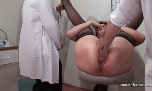 French squirt redhead ass inspected doublefist fucked winning gyneco