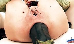 Foolishly renowned prolapse! cervix exposure. eggplant penetratio