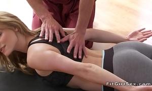 Sexy yoga gallimaufry destroy near hardcore coitus