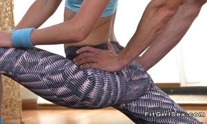 Adaptable supply blonde bangs their way yoga teacher