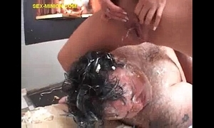 Flaxen-haired squirts on chubby impoverish