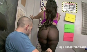 Drenched footjob and oral job respecting gallimaufry with angelina castro!?
