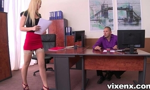 Morose blonde vanda prurience almost nylons assignment footjob and mating