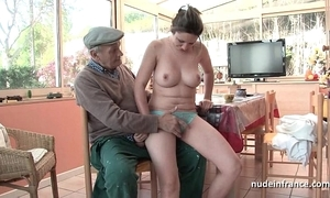 Conscientious titted french devilish group-fucked overwrought papy voyeur