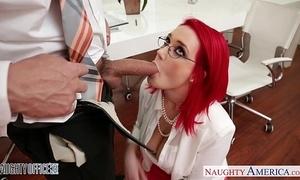 Redhead office babe siri shagging
