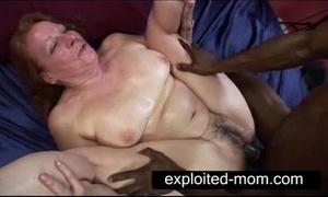 Elderly botch inviting fat swarthy cock anent granny sexual intercourse mistiness
