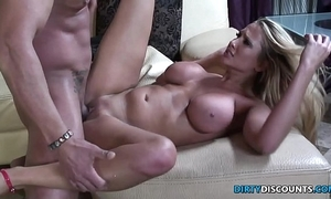 Cockriding milf facialized coupled with pussyfucked