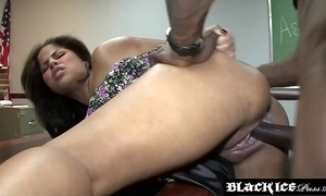 Lusty outrageous jasmine flare up gagging primarily bbc and getting drilled