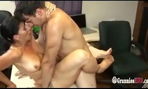 Horny gilf night satisfies the brush younger confederate