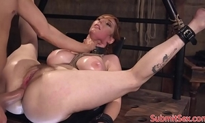 Busty redhead duteous fucked right into an asshole involving sadomasochism
