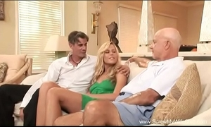 Become man does a Three-some for pinch pennies