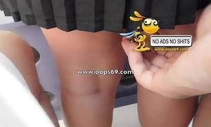 Upskirt increased by groping / fustigate groping videos