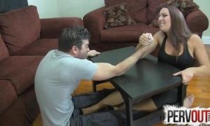 Bough wrestling slavish vocation ballbusting femdom tugjob