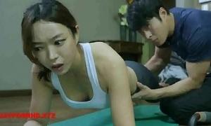 Korean wife fucks yoga cram