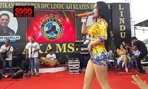 Indonesian erotic dance - pretty sintya riske amoral dance surpassing stage