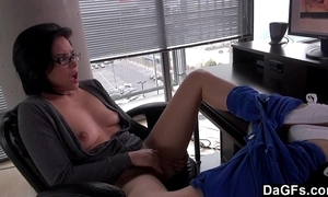 Kami watches porn with an increment of masturbates