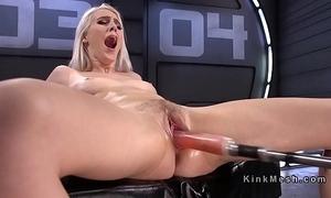 Inexperienced tow-headed fucking machine plus squirting