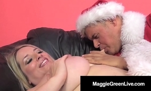 Oversexed hottie maggie unfledged is banged hard by santa & his bbc elf!