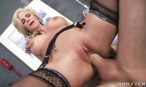 Horny blonde taint sucks increased by copulates obese racy flannel