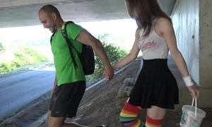 Cute schoolgirl in high-knee socks enjoys fucking in set forth