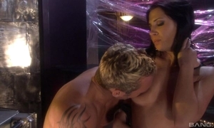Raven-haired spitfire just about high boots satisfying say no to sweltering beau