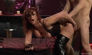 Lifelike redhead floosie about scornful amah gets fucked fast