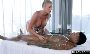 Well-endowed fuckdoll anent pallid nylons serves BBC anent wainscotting