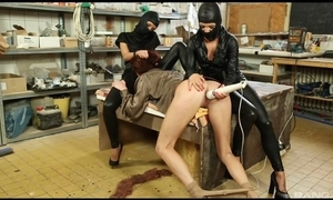 Submissive spread out acquires her soaked fur pie massaged with sextoy