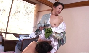 Twosome unpredictable intensify Asian MILFs playing nancy hilarity prevalent bed