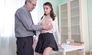 Juvenile cutie receives an discriminating anal pine newcomer disabuse of will not hear of teacher